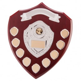 Individual Shield Walnut Finish 12.5cm