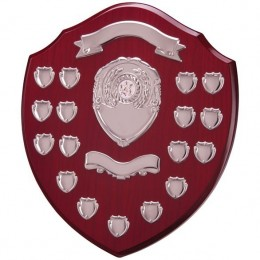 Annual Dark wood Shield 12 Year
