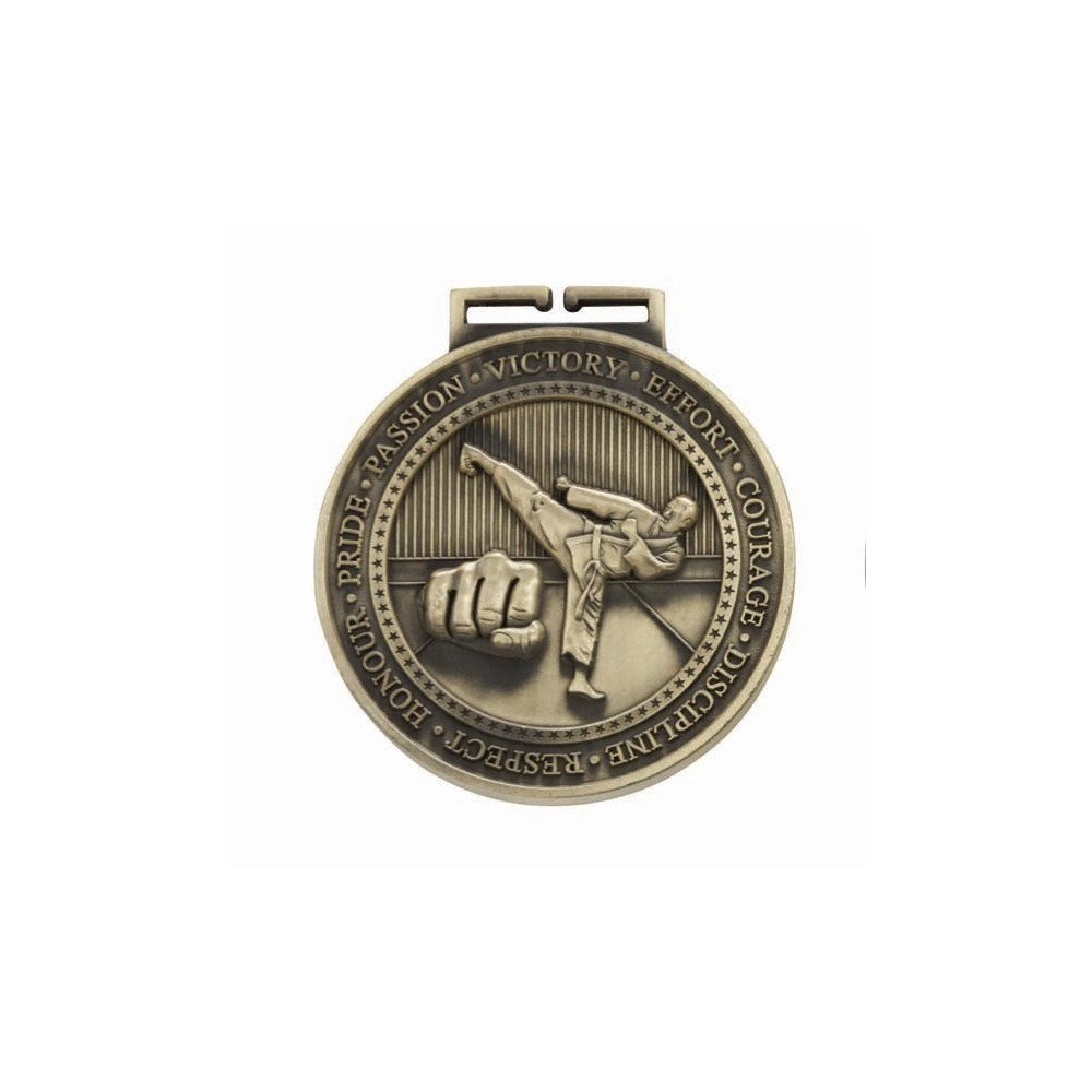 70mm Olympia Judo Medal and Ribbon Martial Arts Medals Gold with ribbon