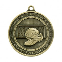 Die Cast football medal