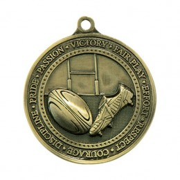 Die Cast Rugby Medal
