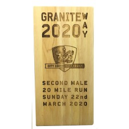 Wooden Laser engraved Trophy