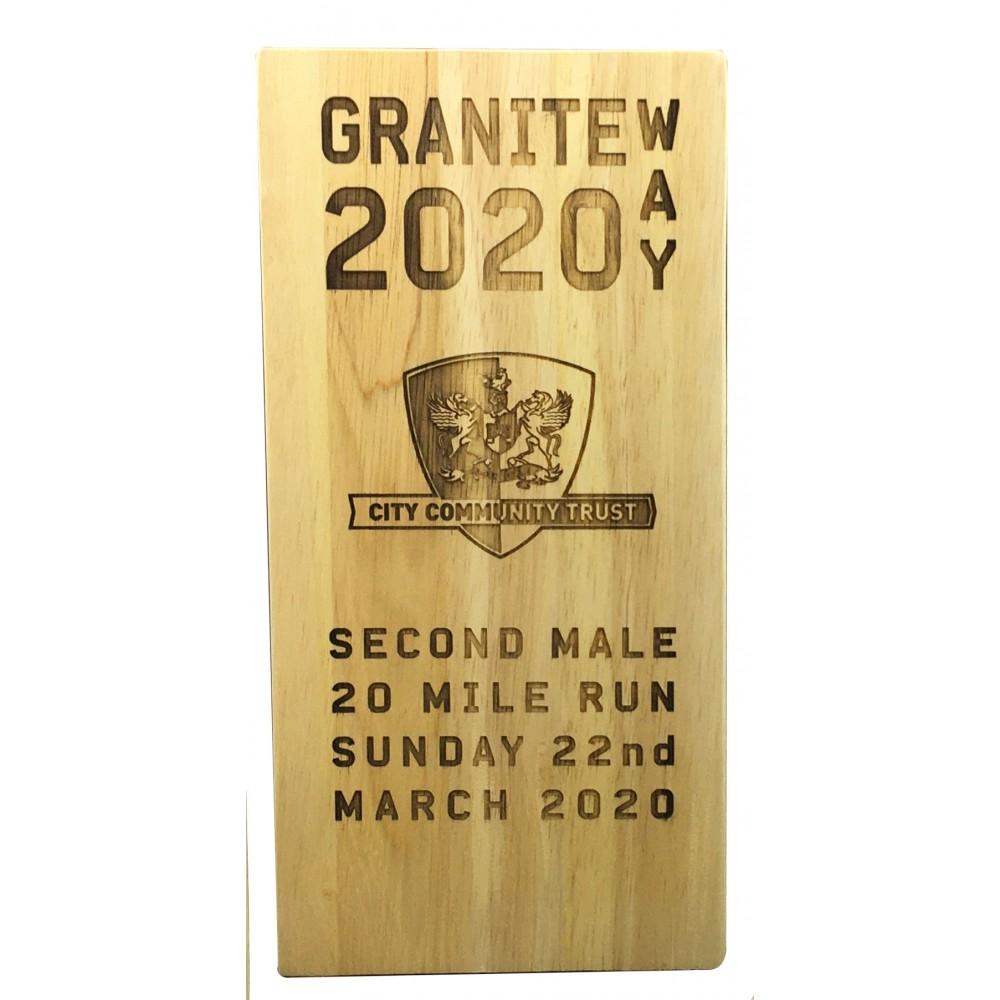 Wooden Laser engraved Trophy