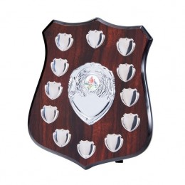 Annual Dark wood Shield 12 Year