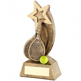 Star Tennis Racket/Ball Trophy - 2 sizes
