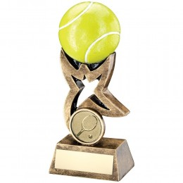 Resin Tennis Racket/Ball Trophy - 2 sizes