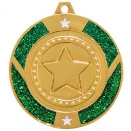 Gold Star Glitter medals