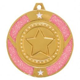 Pink Glitter Dance Star medals