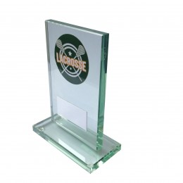Glass Cribbage Trophy 140mm