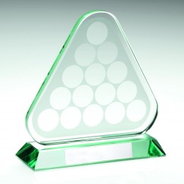 Glass Snooker or Pool Trophy