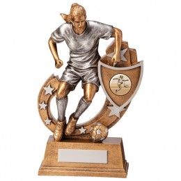Female Football Figure Trophy