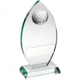 Glass Golf Trophy