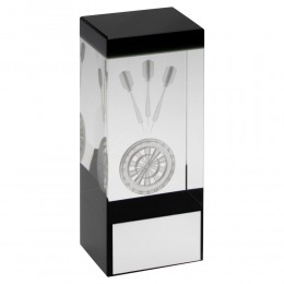 Darts Hologram Glass Block Award