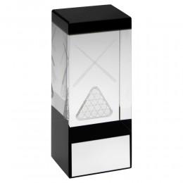 Pool / Snooker Hologram Glass Block Award
