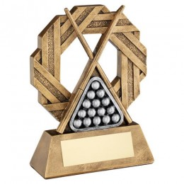 Two tone Snooker / Pool Trophy