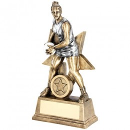 Netball Player Star Trophy