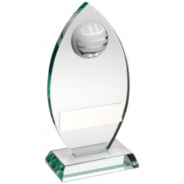 Glass Netball Trophy