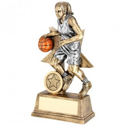 Basketball Female Player Star Trophy