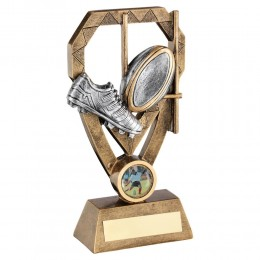 2 tone rugby Trophy