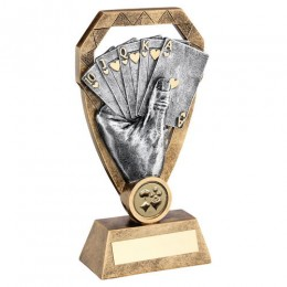 2 tone Card Trophy
