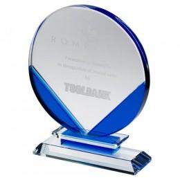 Blue Glass Trophy