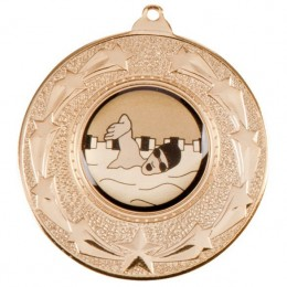 Star Burst medal in gold,silver or bronze