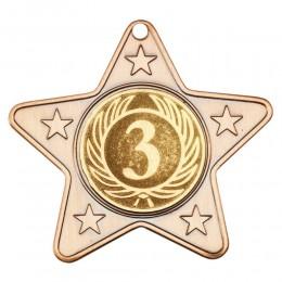 Star Medal 50mm Gold