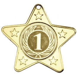 Star Medal 50mm Gold