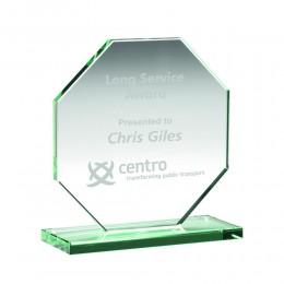 Laser engraved glass award