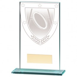 Glass Rugby Trophy