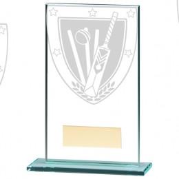 Glass Cricket Trophy